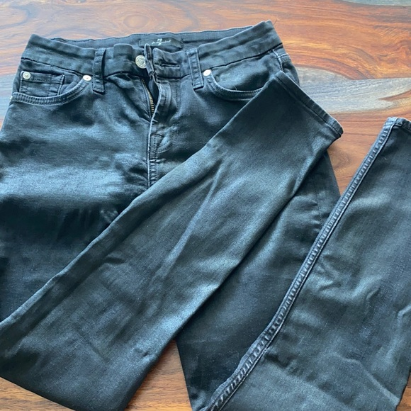 Black jean/leather material